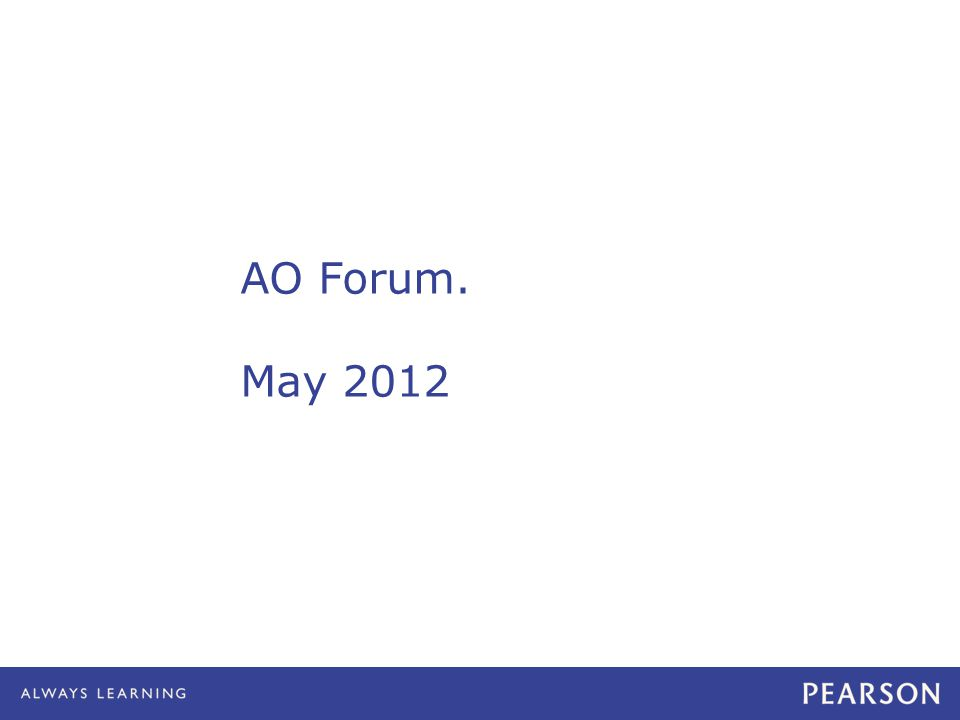 AO Forum. May 2012