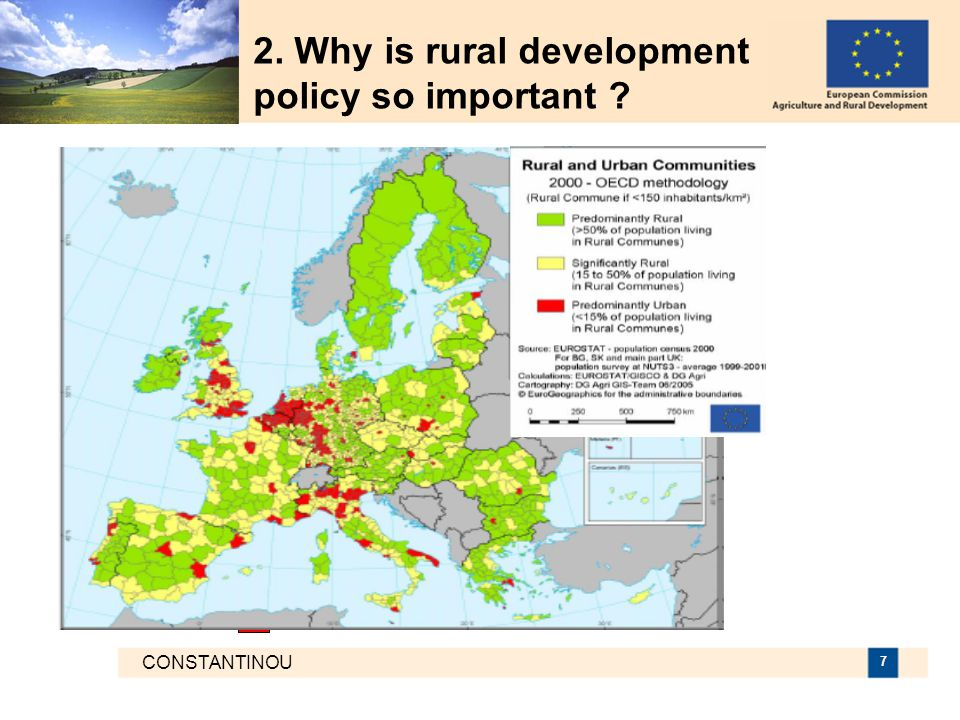 CONSTANTINOU 7 2. Why is rural development policy so important
