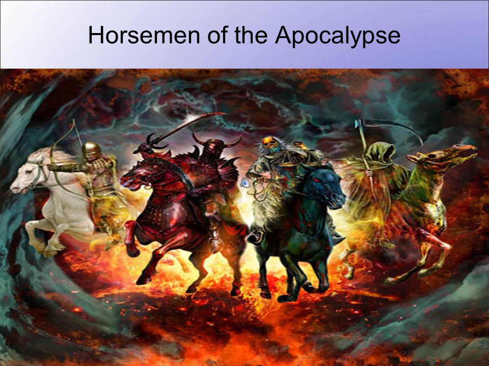 School of Public Health, University of Hong Kong Horsemen of the Apocalypse War Famine Pestilence Death