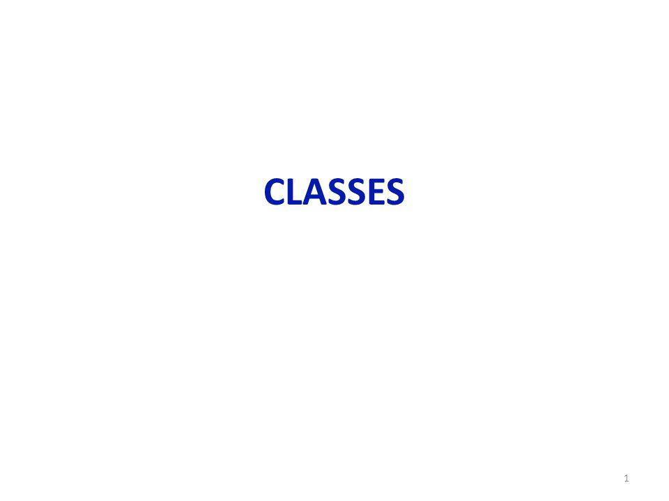1 CLASSES