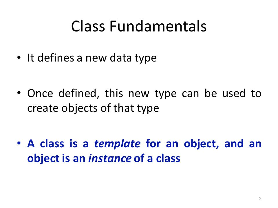 23 Adding a method that takes parameters class Box { double width; double height; double depth; // compute and return volume double volume() { return width * height * depth; } // sets dimensions of box void setDim(double w, double h, double d) { width = w; height = h; depth = d; }