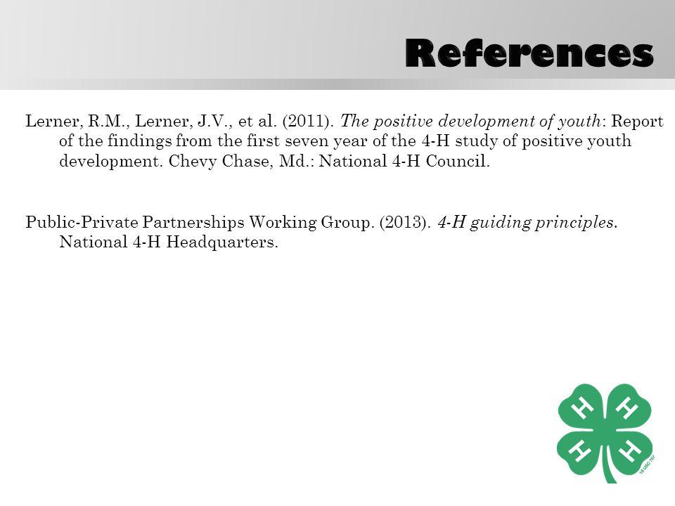 Lerner, R.M., Lerner, J.V., et al. (2011).