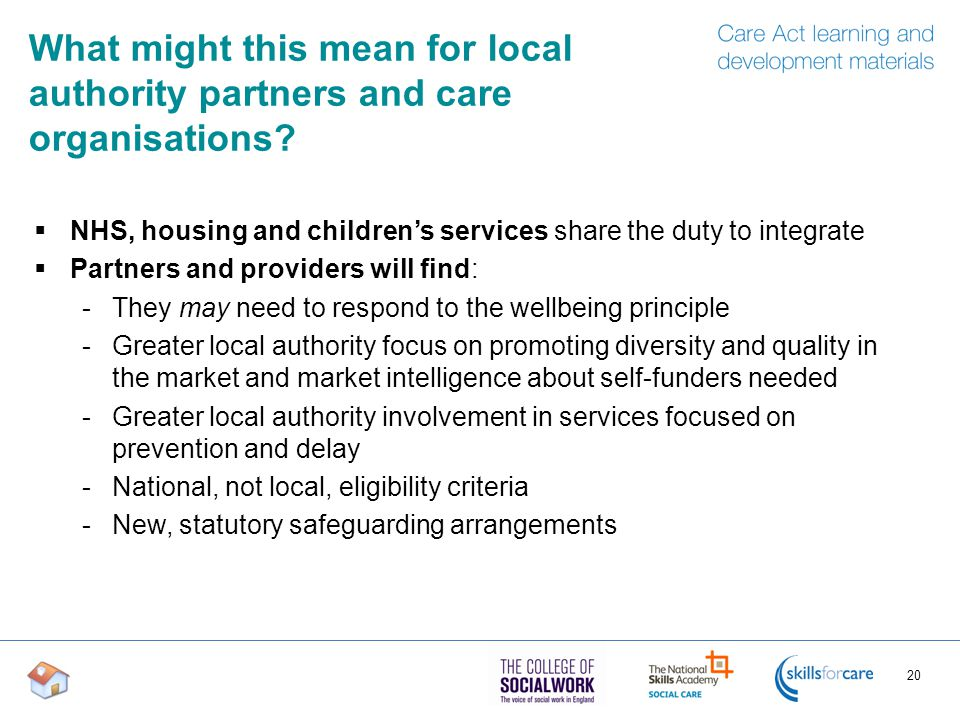 What might this mean for local authority partners and care organisations.