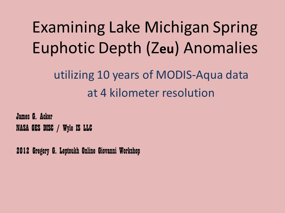 2008 Elevated turbidity was not apparent in the southern end of Lake Michigan in 2008.