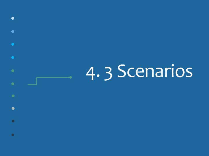 4. 3 Scenarios