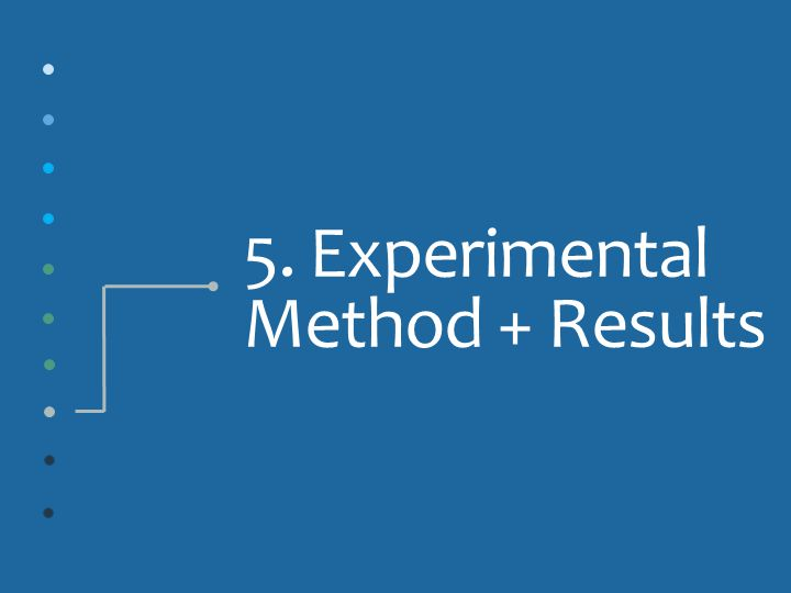 5. Experimental Method + Results