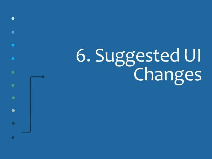 6. Suggested UI Changes