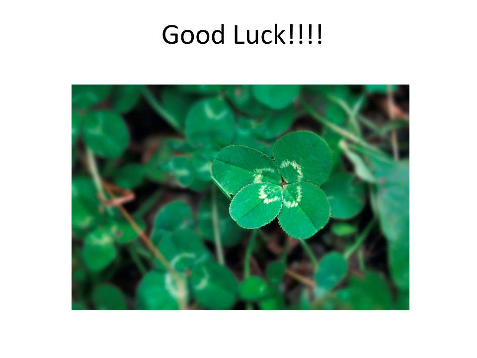 Good Luck!!!!