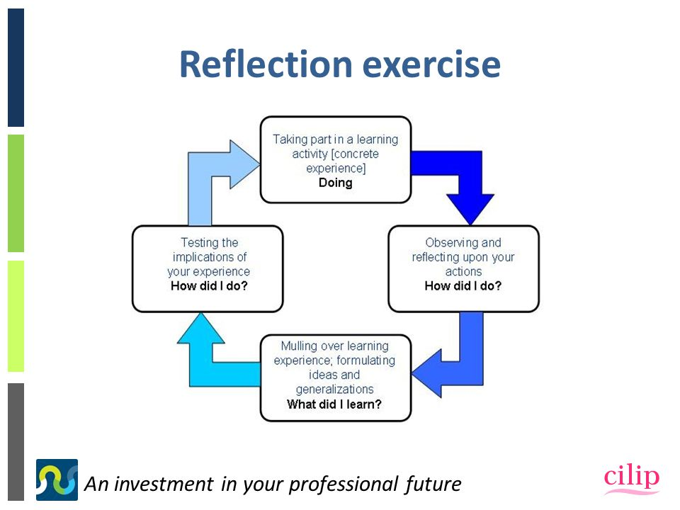 An investment in your professional future Reflection exercise