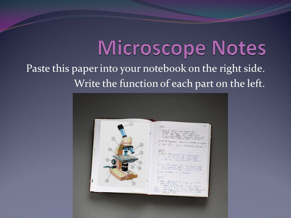 Write the steps of how to remove a slide from the stage of the microscope.