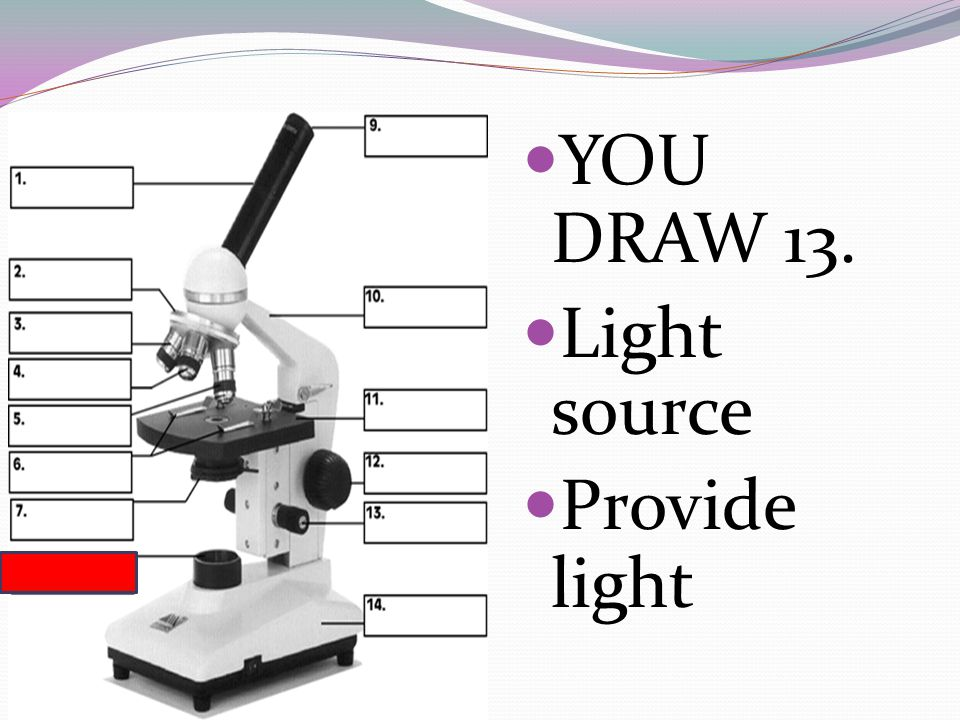 YOU DRAW 13. Light source Provide light