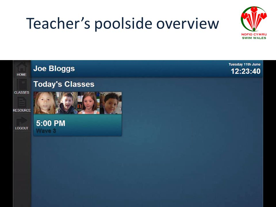 Teacher's poolside overview