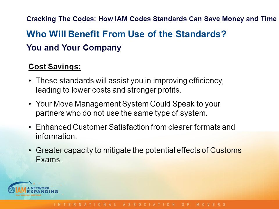Who Will Benefit From Use of the Standards.