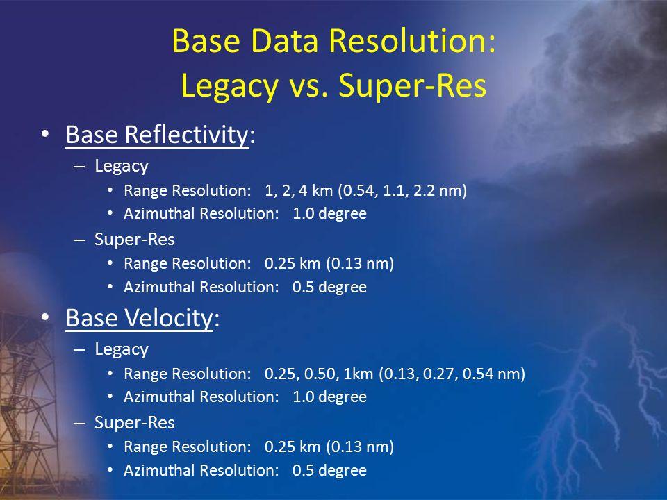 Base Data Resolution: Legacy vs.