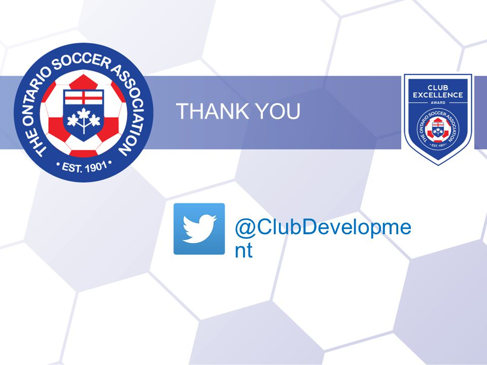 THANK YOU @ClubDevelopme nt