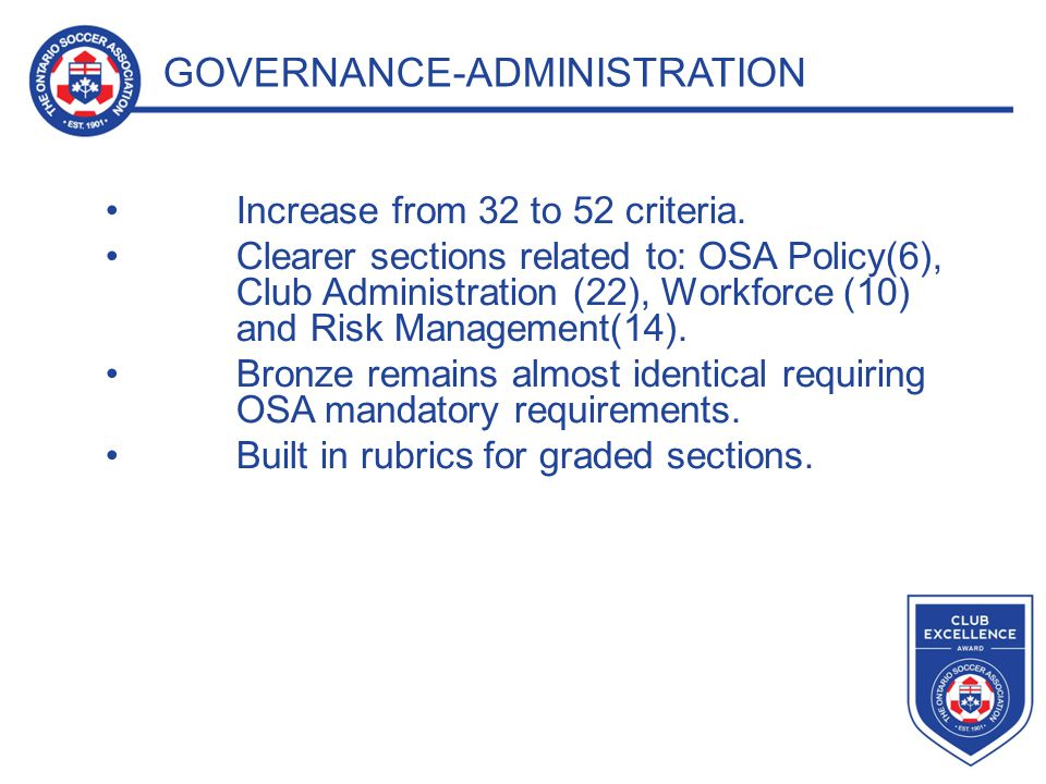 GOVERNANCE-ADMINISTRATION EXAMPLE
