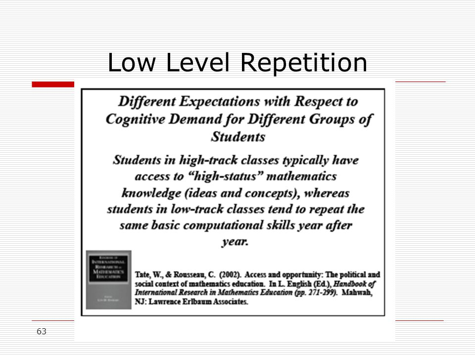 Low Level Repetition 63