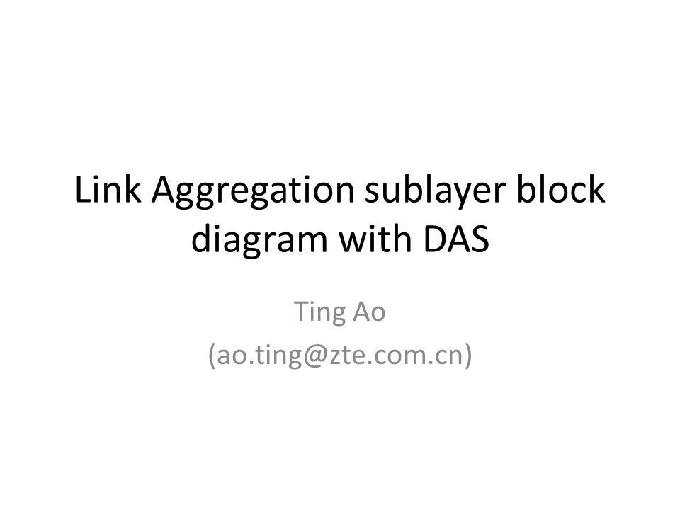 Link Aggregation sublayer block diagram with DAS Ting Ao (ao.ting@zte.com.cn)
