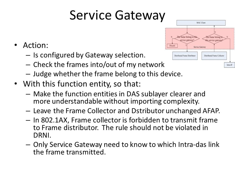 Service Gateway Action: – Is configured by Gateway selection.