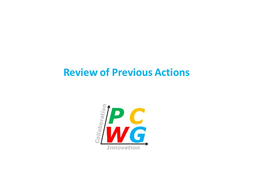 Review of Previous Actions