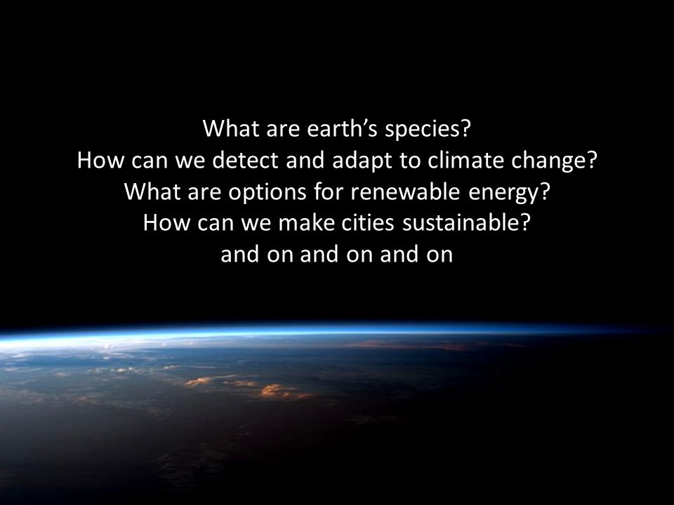 Quentin Wheeler What are earth's species. How can we detect and adapt to climate change.