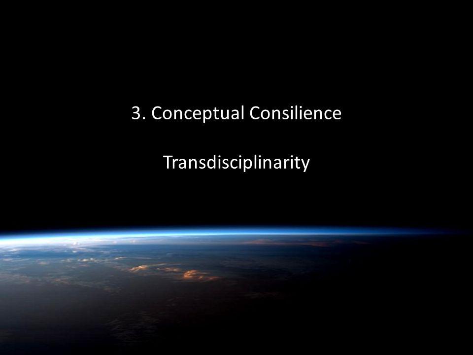 Quentin Wheeler 3. Conceptual Consilience Transdisciplinarity