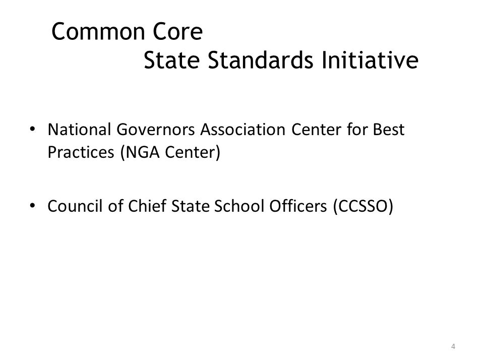 Agenda CCSS: Who and What Definition & History of Development Impact on Transition Needs Understanding the Value of Standards Inclusion for All Students Resources 3