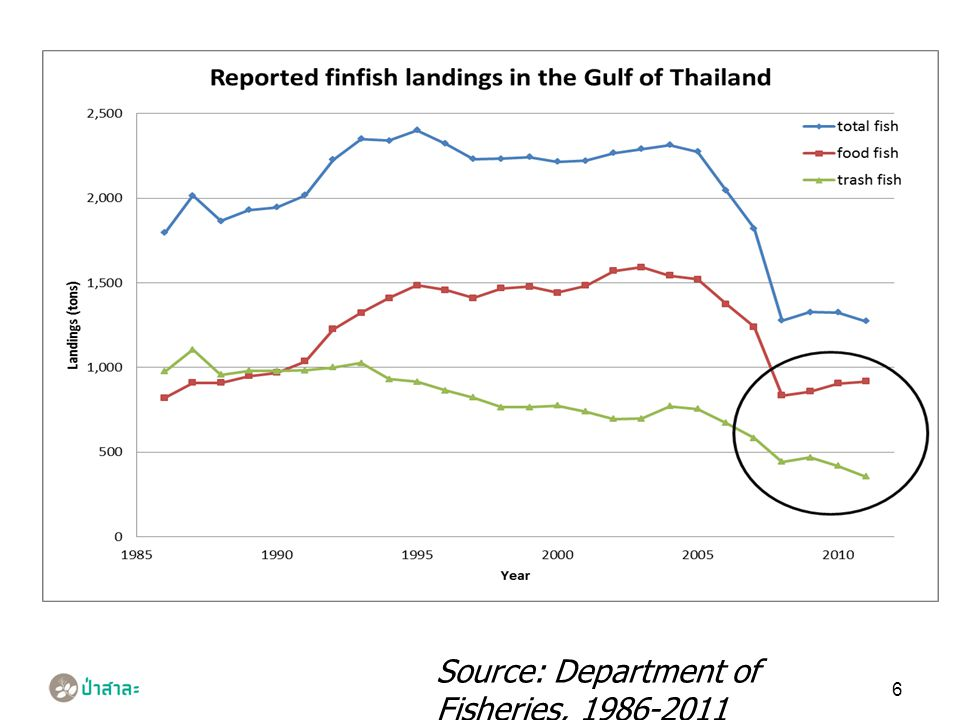 6 Source: Department of Fisheries, 1986-2011