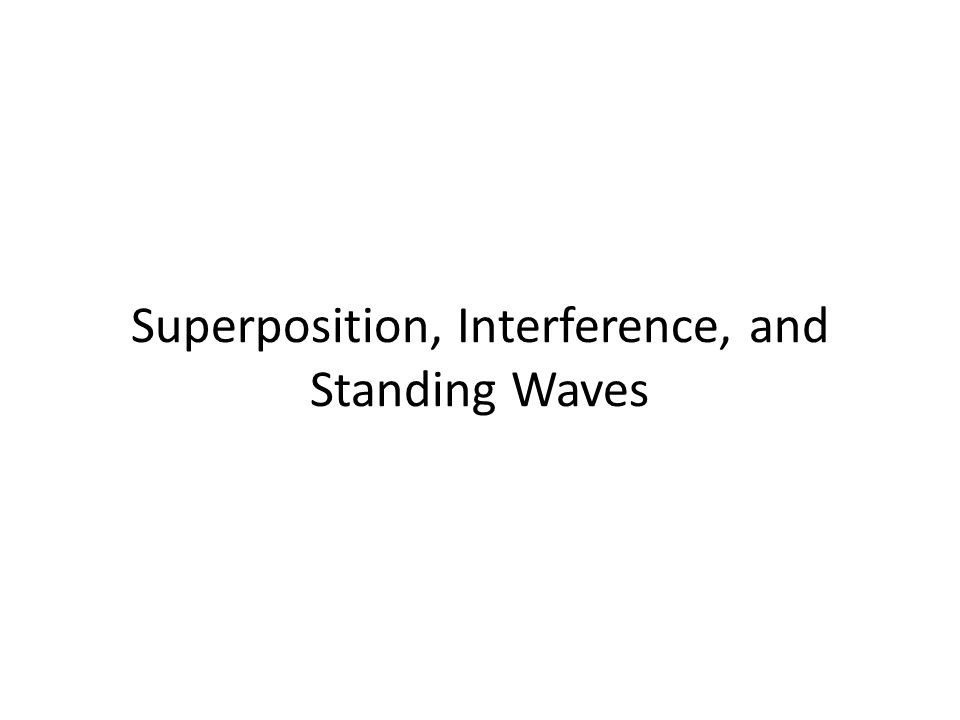 Superposition, Interference, and Standing Waves