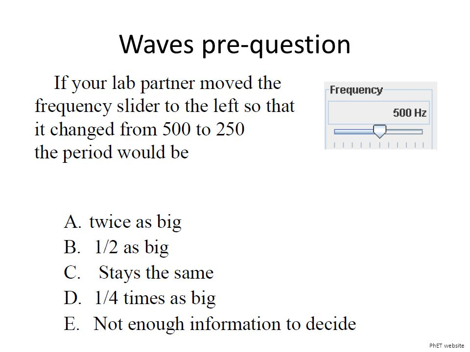 Waves pre-question PhET website