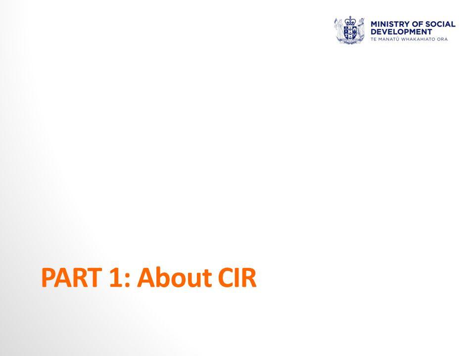 PART 1: About CIR