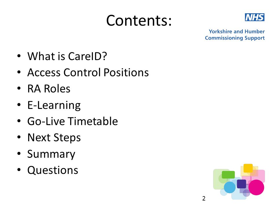 Contents: What is CareID.