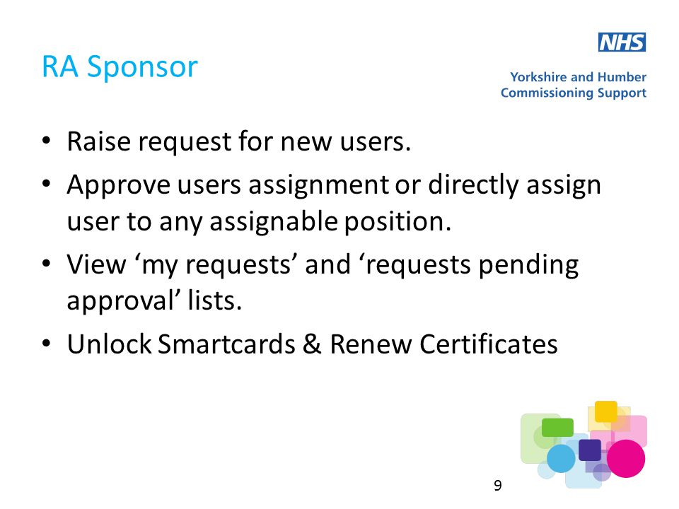 Raise request for new users.