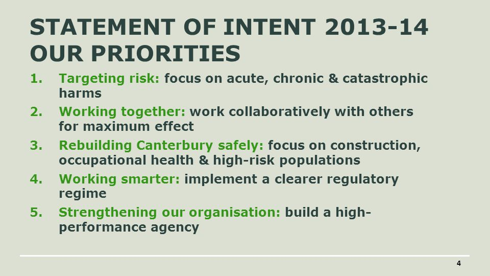 A transition from mostly… Reactive (bottom of cliff) Incidents Outputs Hazard/Symptom Starting with solutions Individual practitioner variation Working in isolation as an agency to mostly … Proactive and targeted Patterns Outcomes Root causes Intelligence and context-led Guided decision-making Engaged and collaborative WHAT'S NEEDED AUGUST 2014WORKSAFE NEW ZEALAND 5