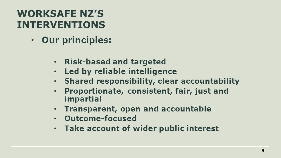 WORKSAFE NEW ZEALAND 20 KEY OFFICERS' DUTIES Officers have a due diligence duty It is individual to officers Includes taking reasonable steps to: acquire, and keep up-to-date, knowledge of work health and safety matters gain an understanding of the nature of the operations of the business or undertaking of the PCBU and generally of the hazards and risks associated with those operations ensure that the PCBU has available for use, and uses, appropriate resources and processes to eliminate or minimise risks to health and safety from work carried out as part of the conduct of the business or undertaking ensure that the PCBU has appropriate processes for receiving and considering information regarding incidents, hazards and risks and for responding in a timely way to that information ensure that the PCBU has, and implements, processes for complying with any duty or obligation of the PCBU under the Act verify the provision and use of the resources and processes referred to above.