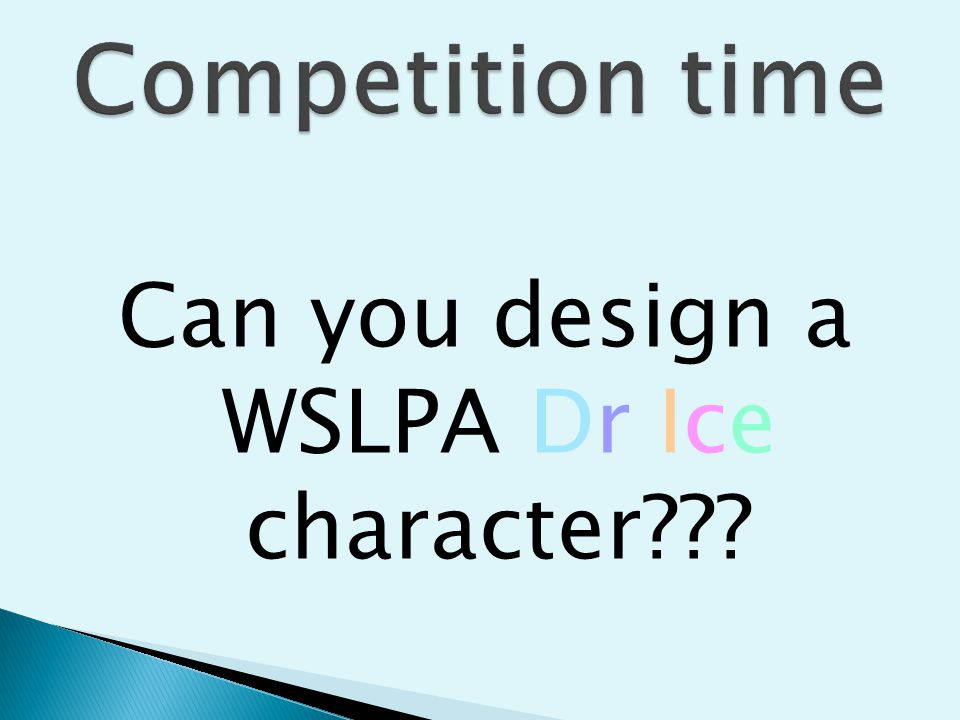 Can you design a WSLPA Dr Ice character???