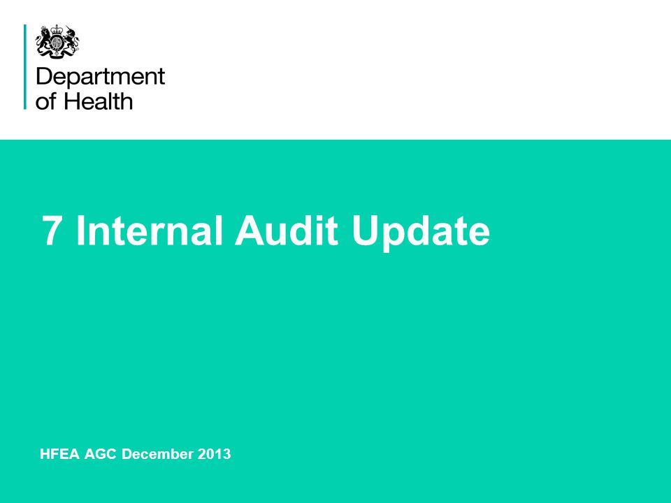 7 Internal Audit Update HFEA AGC December 2013