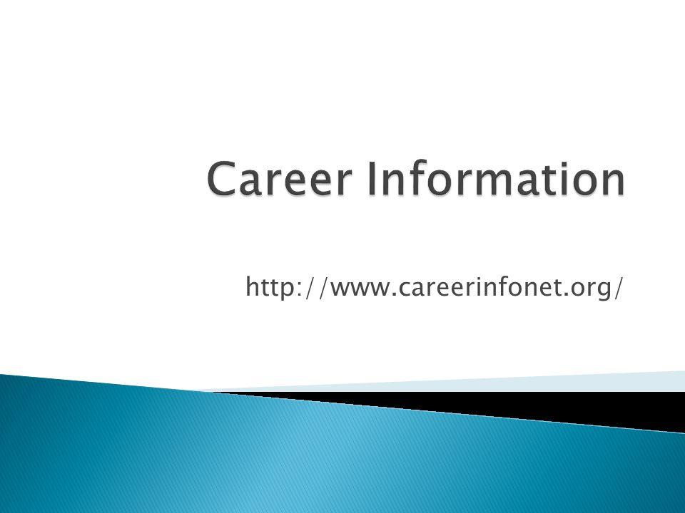 http://www.careerinfonet.org/