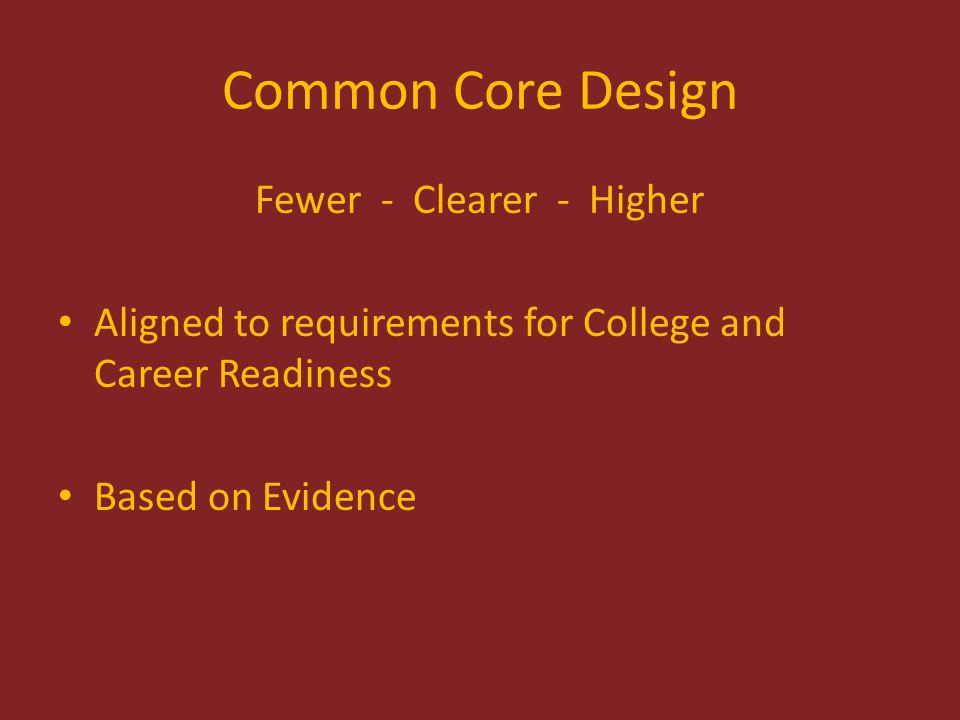Mathematics Design 8 Standards for Mathematical Practice Same across grade levels.