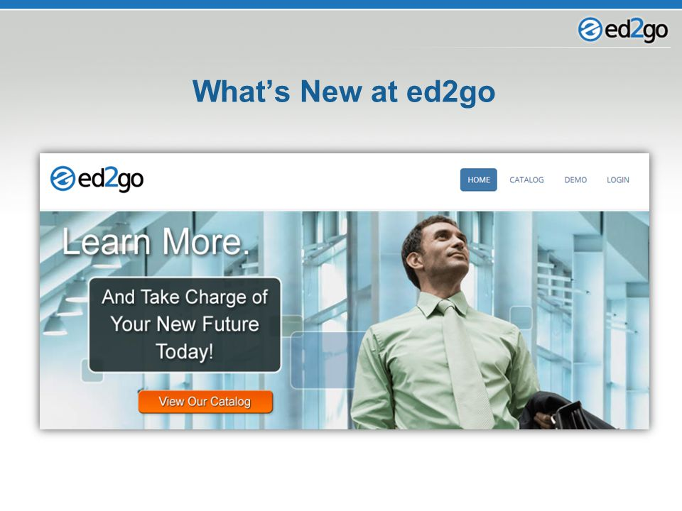 What's New at ed2go