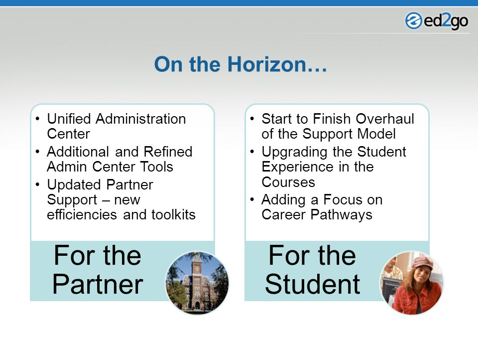 On the Horizon… Unified Administration Center Additional and Refined Admin Center Tools Updated Partner Support – new efficiencies and toolkits For th