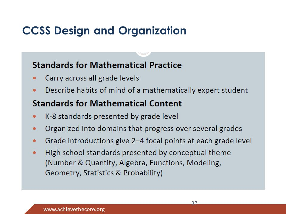 www.achievethecore.org CCSS Design and Organization 37