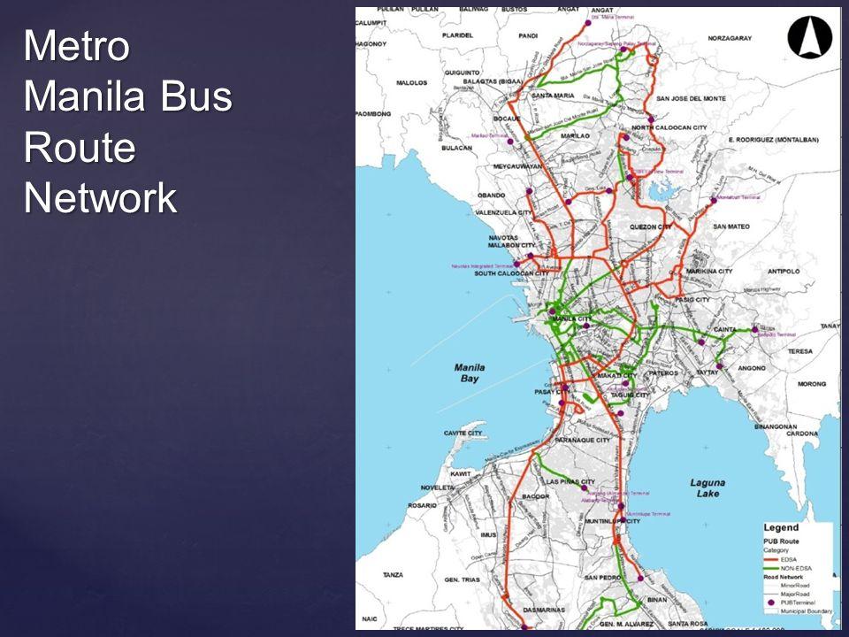 Metro Manila Bus Route Network