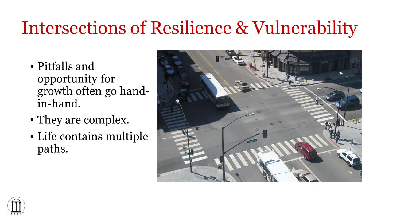 Intersections of Resilience & Vulnerability Pitfalls and opportunity for growth often go hand- in-hand.