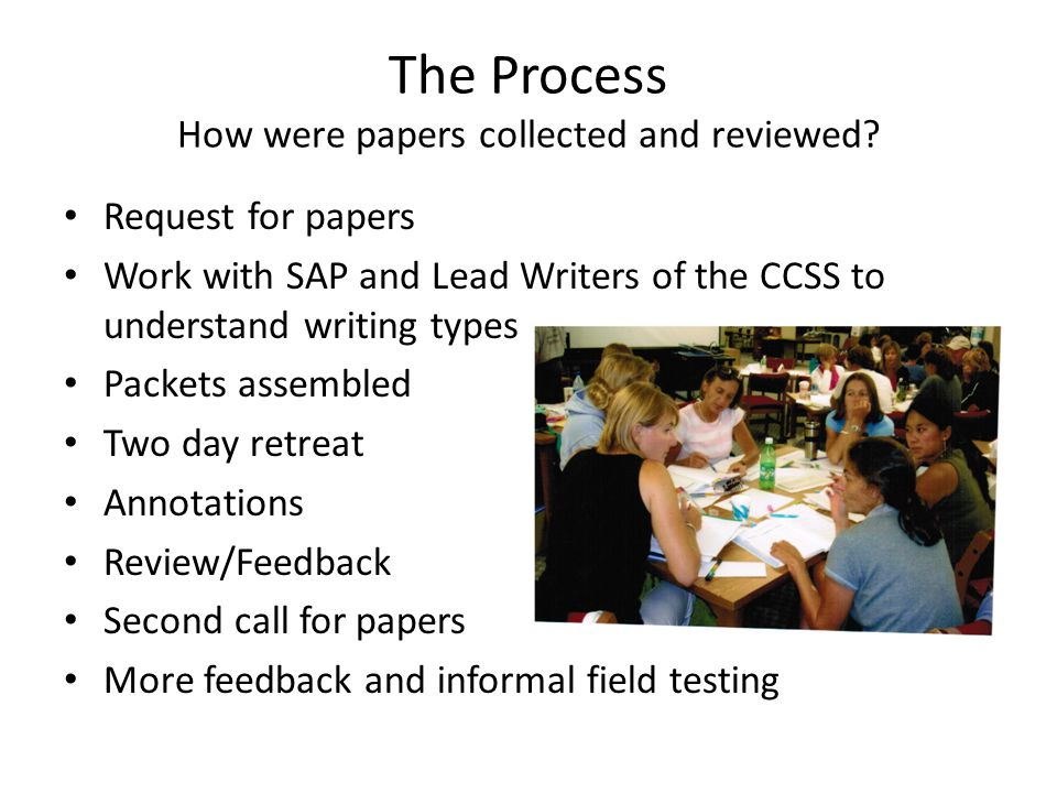 The Process How were papers collected and reviewed.