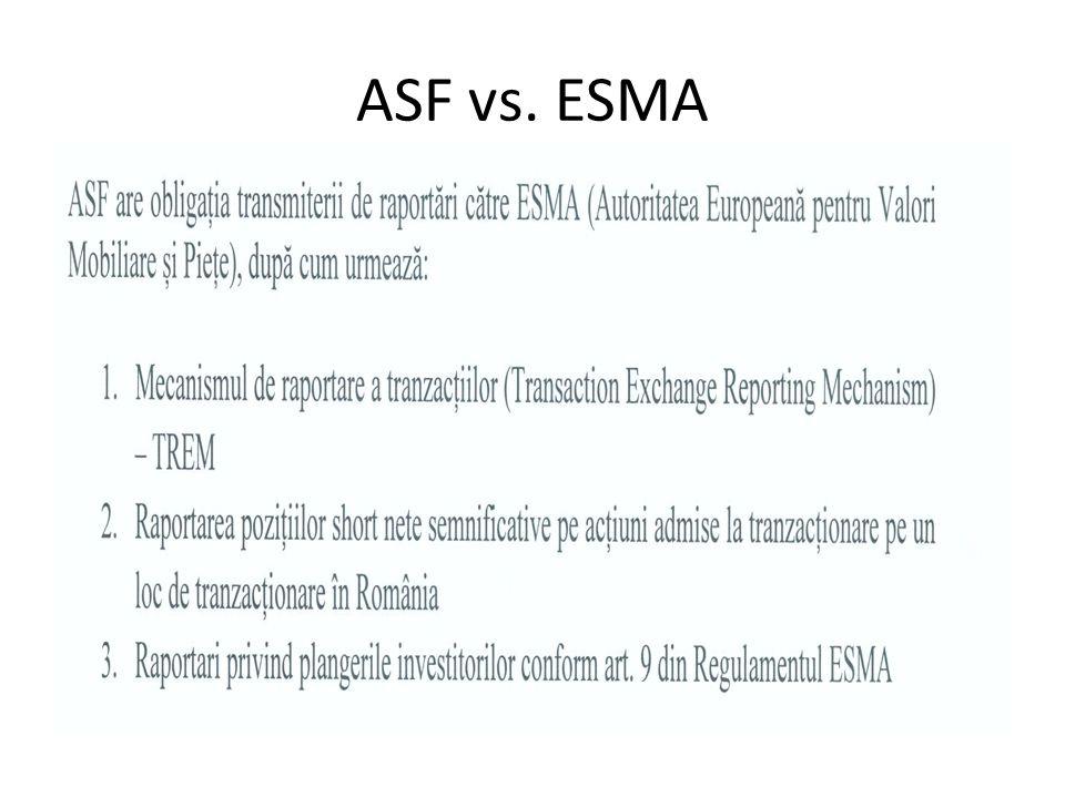ASF vs. ESMA