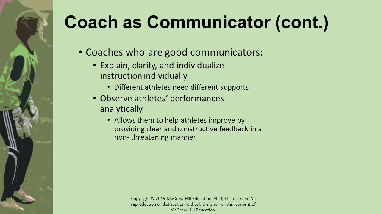 Athlete-Athlete Communication (cont.) Athletic teams are like families…tension, frustration, and conflict is inevitable Underlying issues revolve around Misunderstanding Insensitivity Distrust Betrayal Athletes feeling unheard Intercultural misunderstandings rooted in race, class, ethnicity, etc.
