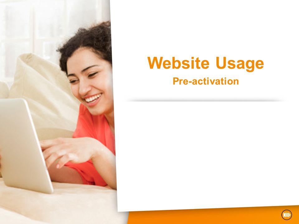 Website Usage Pre-activation