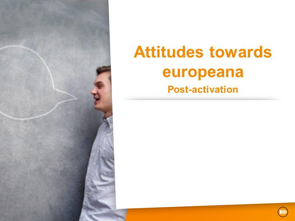 Attitudes towards europeana Post-activation