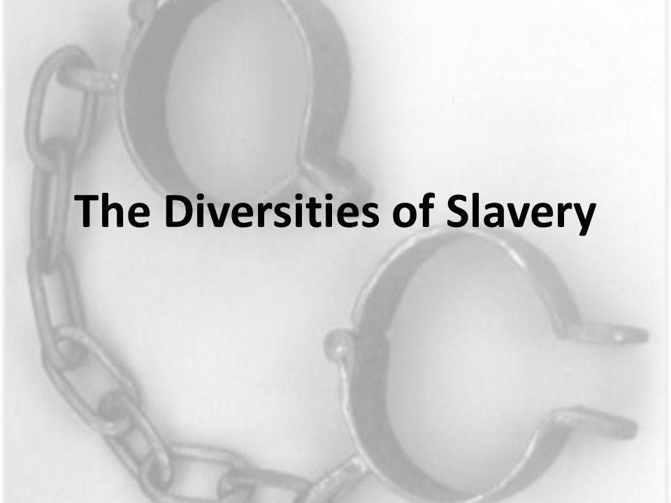 The Diversities of Slavery